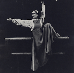 Martha Graham dans «Frontier». Photo par Barbara Morgan.